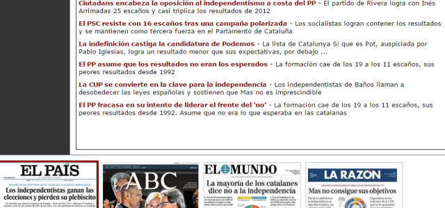 Los resultados de las elecciones catalanas y la democracia televisada; para qué queremos los resultados si tenemos a sus intérpretes!!